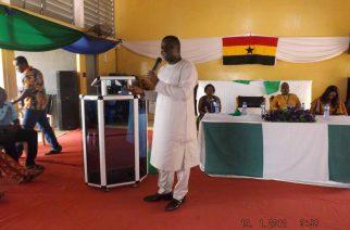 Ambassador Olufemi Micheal  Abikoye addressing Nigerian inmates