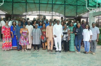 Group photograph of participants,Resource persons and organising  committee members  at the media engagement in Abuja