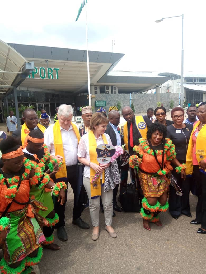 Reception at the Nnamdi Azikiwe International Airport, Abuja today
