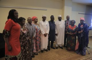 Stakeholders in the health sector with Senator Olanrewaju Tejuoso Hon.Usman Muhammad