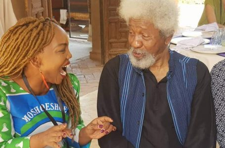 Lipuo with Nobel Laureate , Wole  Soyinka