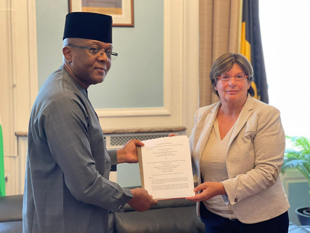 Nigerian Embassy signs MoU on training of Judges and lawyers in Belgium