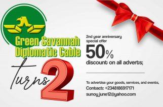 Green Savannah Diplomatic Cable turns 2