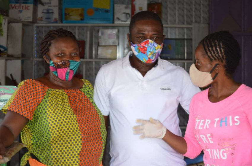 Rebekah Awuah Foundation gives free face masks to food vendors in Ghana