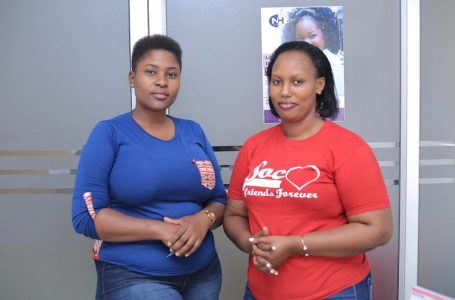 Managing Partner, Diva Taxi, Gillian Kobusingye (left)  and Executive Director Sharon Rutega
