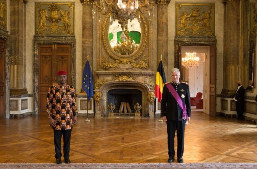 Ambassador Onowu presents Letters of Credence to Belgian King