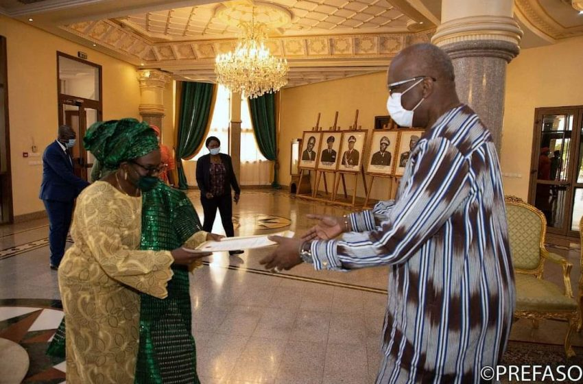 Ambassador Abdulraheem presents Letters of Credence to President Kabore