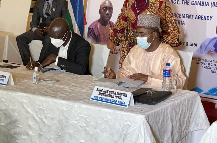 Gambia pledges cooperation with Nigeria's anti-narcotic agency